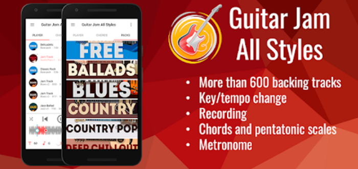 backing tracks guitar jam app