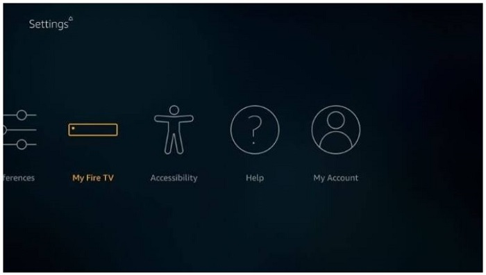 select the my fire tv/device